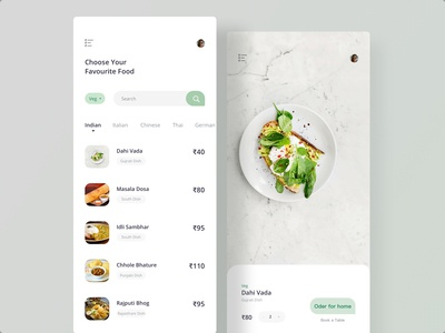 Food Order Screen