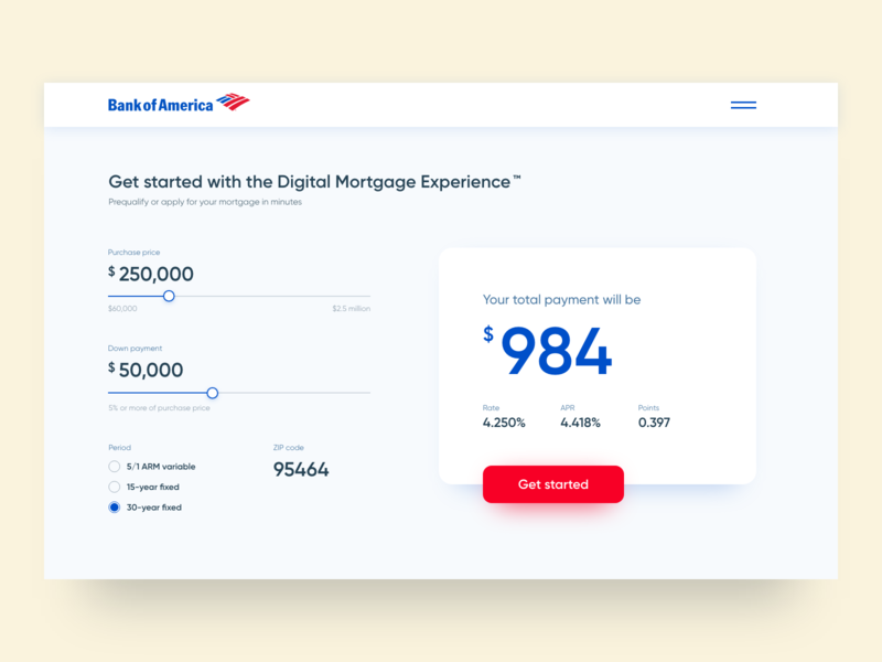 Mortgage Calculator finance ui concept minimal clean mortgage calculator banking design ux 004 daily ui digital design user interface web design ui  ux design