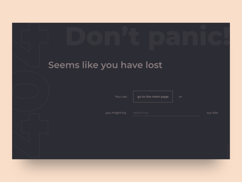 404 page design ui webdesign concept dark 404 error 404 404 page 008 daily ui minimal clean web design user interface ui  ux design digital design