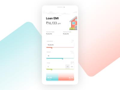 Loan EMI Calculator #dailyui #004