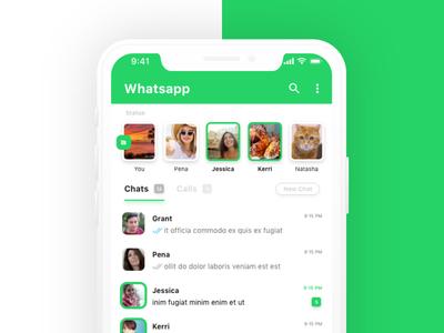 Whatsapp iOS app Redesign