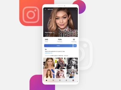 Instagram User Profile Redesign #dailyui #006