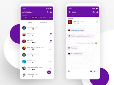 Direct Messaging App Concept for EDM Producers #dailyui #013
