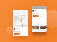 Location Tracking Screen for food delivery app tracking #dailyui ui animation dailyui app design app ux design ios ui android uidesign