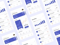 Finance App Management minimalist ui minimalism card design activity clean ui chart crm ui design money bank financial app finance