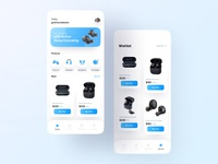 Heartbeat Audio Device App uiux mobile app equipment audio hitech clean gadget card ui minimalist headset earbuds marketplace design