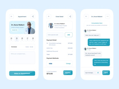 Medical Consultation Apps covid consulting chatbot healty drug card medical app clinic hospital minimalist health mobile app activity design uiux clean medical care doctor consultation medical