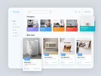 Furniture e commerce dashboard