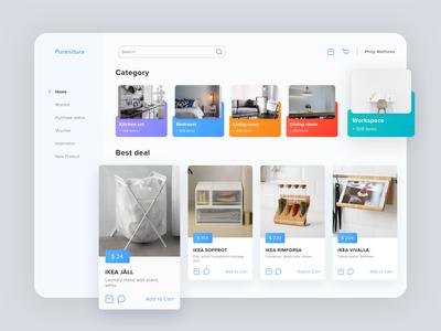 Pureniture E-Commerce Dashboard