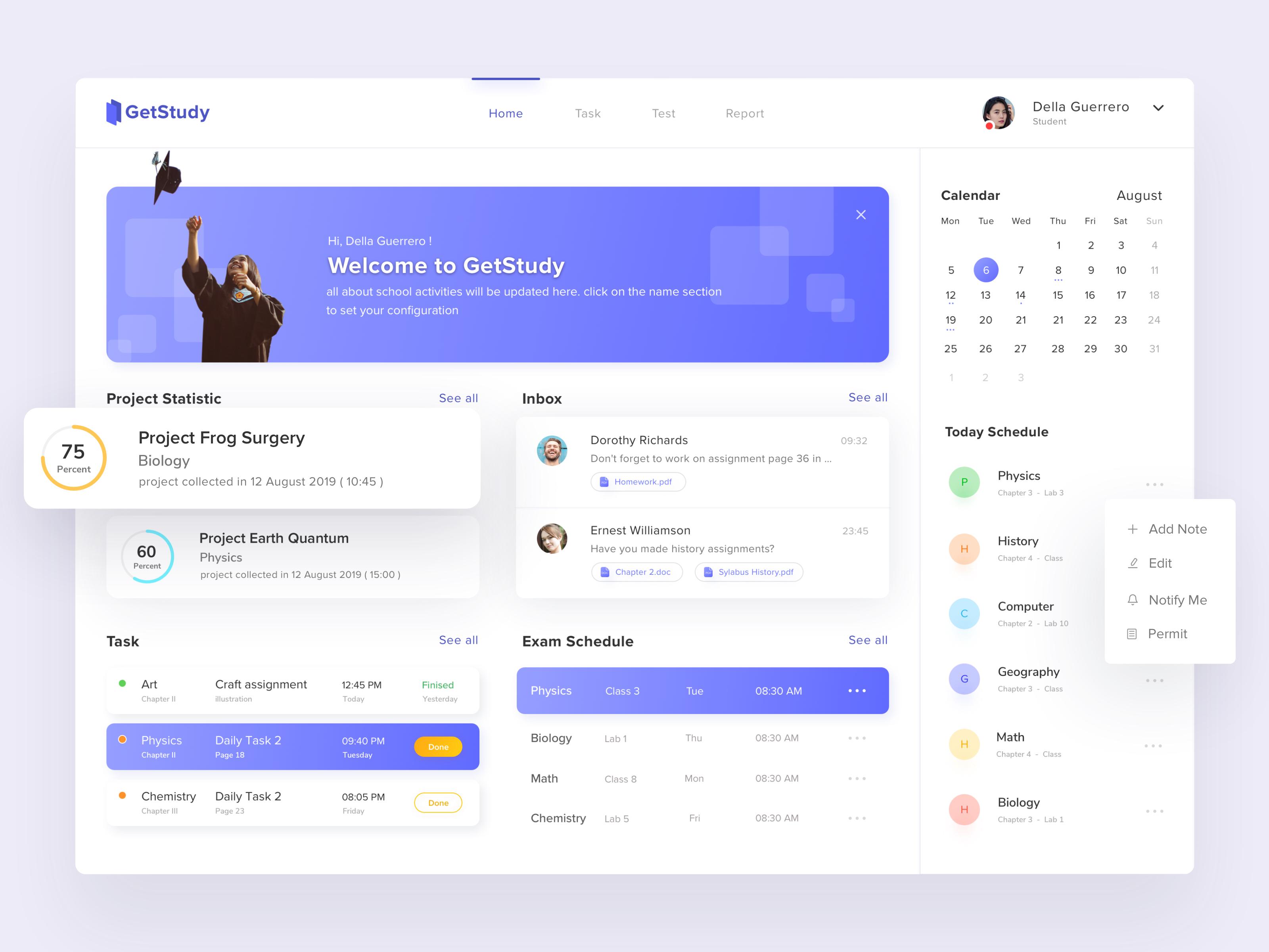 Get study dashboard app