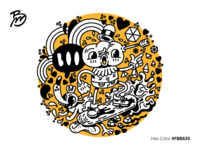 Boo In The Sky-illustraion-by-Mario-Biancolella