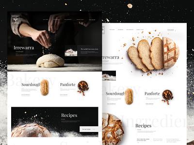 Bakin' bread typography bakery landing page bread
