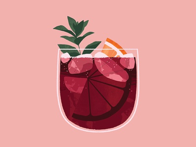 Wine Spritz illustration beverages wine cocktail beverage