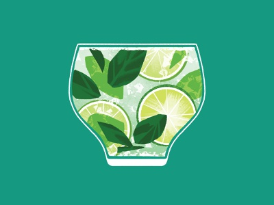 Mojito illustration beverage cocktail