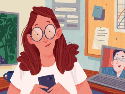7 Tips for Collaborating with Other Researchers researcher editorial office drawing women illustration research