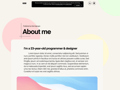 Blog UI web ui redesign flat design concept branding wordpress blog portfolio