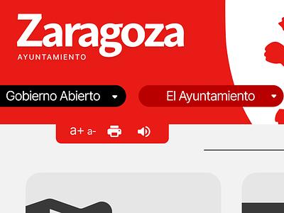 Zaragoza.ES Landing Concept españa flat web ux typography design branding ui town hall concept redesign spain zaragoza