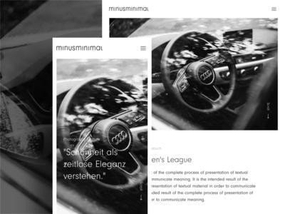 minusminimal — creative studio // project page - mobile