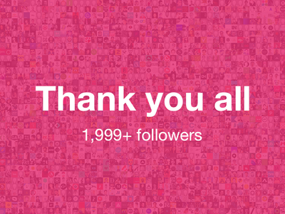 Thank You All - Milestone reached