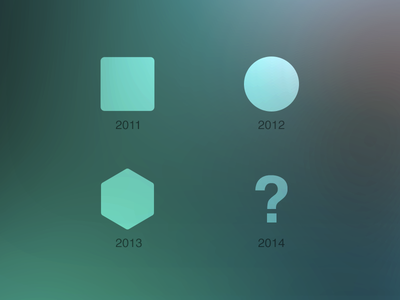 What's next? [PLAYOFF] playoff next shape 2014 evolution shapes simple time design trend trends