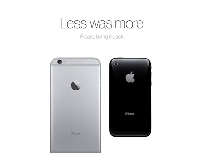 Less was more