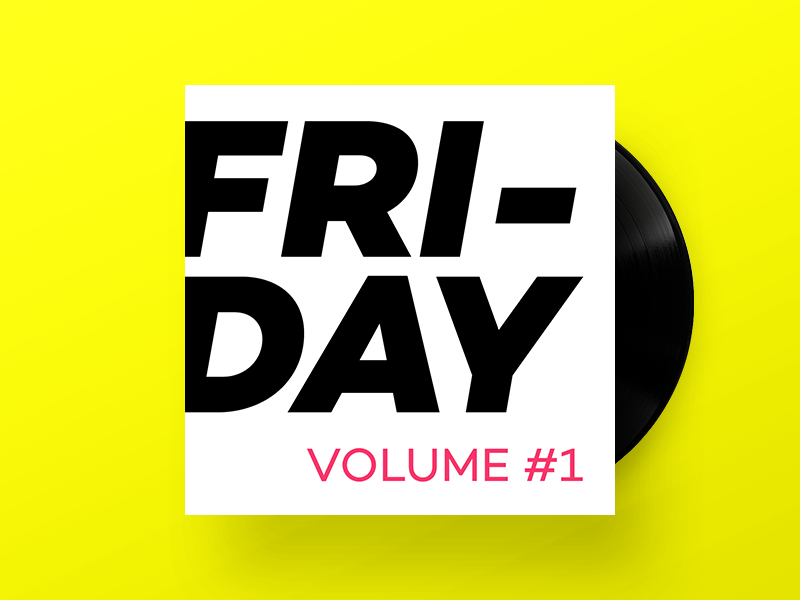 Lunar Way Friday Vol. 1 music playlist record vinyl album cover soundcloud