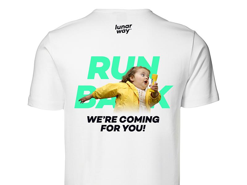 Run Bank - We're coming for you! meme run design t-shirt