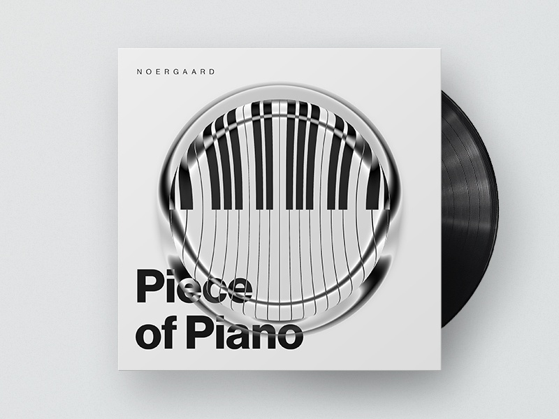 Piece of Piano typography coverart cover album audio soundcloud musik piano