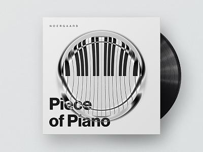 Piece of Piano typography coverart cover album audio soundcloud musik piano