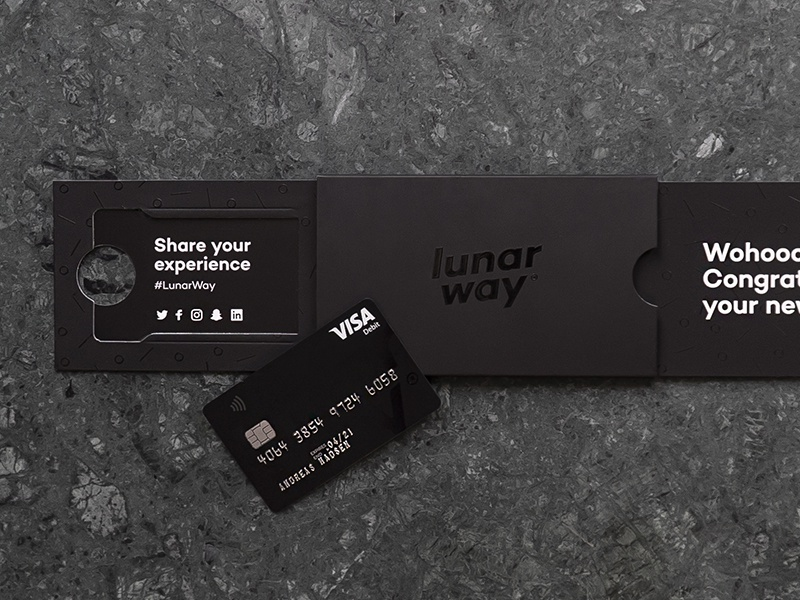 Credit Card & Package box visa black payment card credit print package