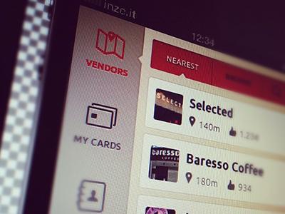App navigation WIP w. icons app navigation icons design interface social wallmob mobile simple clean icon tabs tab navigation design wallmob design team