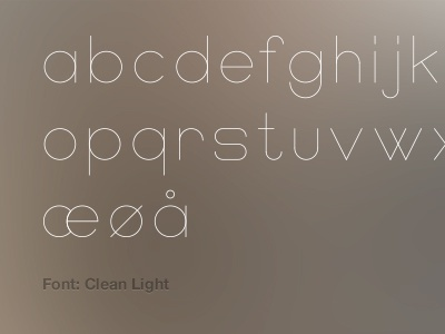 font clean light by steffen nrgaard andersen dribbble