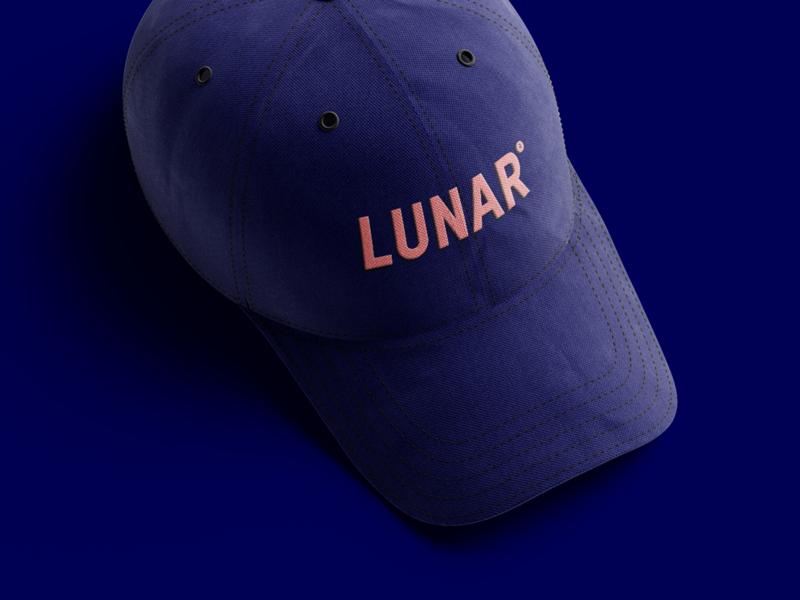 Lunar Merchandise branding design bank banking lunar sticker accessories t-shirt cap logo branding merchandise design merchandise