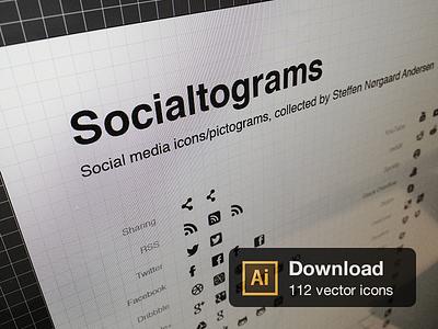 Socialtograms icons social vector pictograms download free