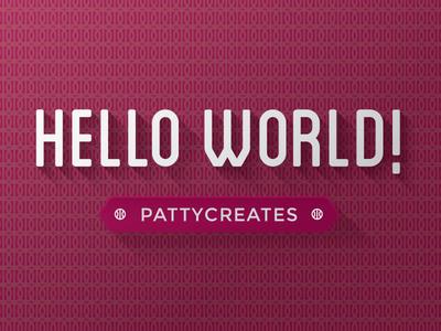 Hello World Dribbble basketball debut tesselation pattern pattycreates sf vintage wallpaper dribbble logo hello