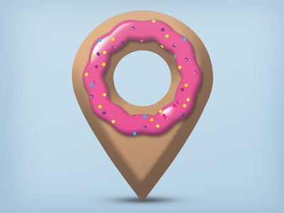 Donut Dazzler Icon startupweekend donut icon hackathon logo sprinkles cake cute geolocation pretty jelly app