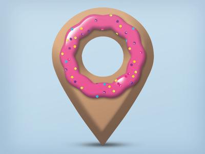 Donut Dazzler Icon startupweekend donut icon hackathon logo sprinkles cake cute geolocation pretty jelly app