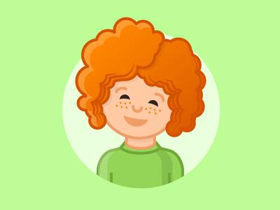 Child portrait cute art vector illustration child