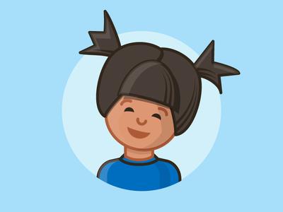 Child Illustration portrait cute art vector illustration child
