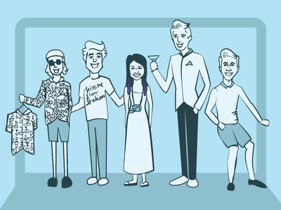 Cruise Characters people cruise nomad cruise illustration