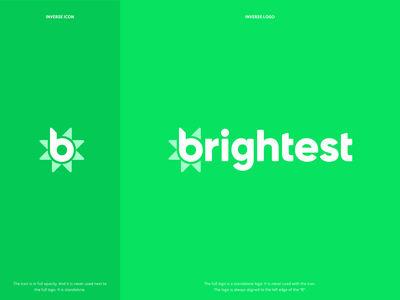 Brightest.io Logo logo design software branding logo