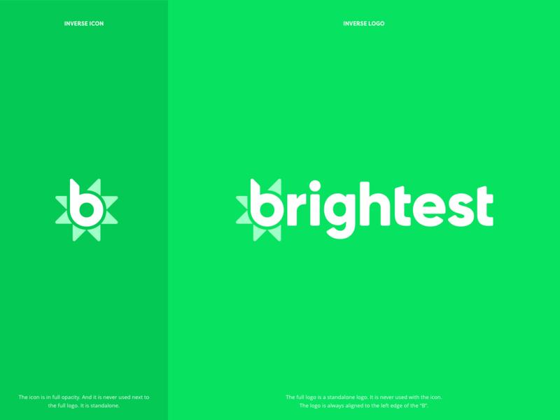 Brightest.io Logo logo design software branding logo