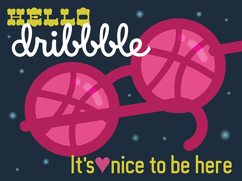 Debut Dribbble Post design illustartion debut first shot glasses @thadcox