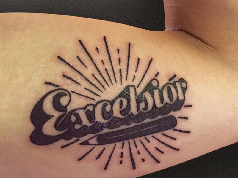 Dribbble Post Excelsior design type tattoo lee stan excelsior