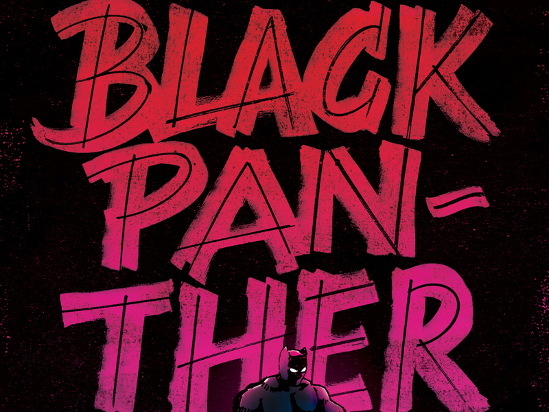 Some hand-lettering... hand-lettering marvel tales of suspense 97 hero wakanda panther black