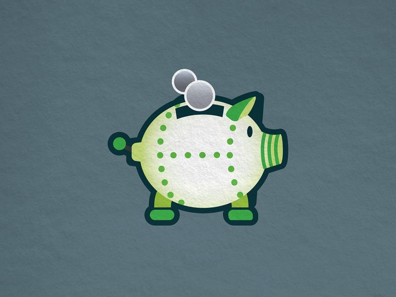 retro, robotic piggy bank texture retro piggy bank pig robot
