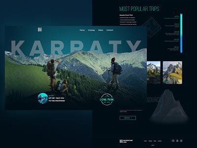 mountain landing landing page concept landing  page ui web ux design