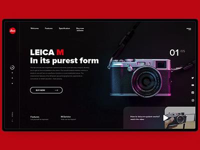 Leica concept landing  page web desgin leica photo landing page concept web ui ux typography design