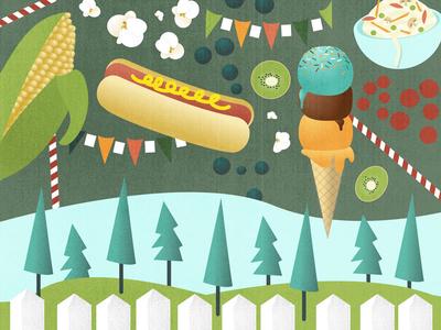 Festival Food Banner Illustration