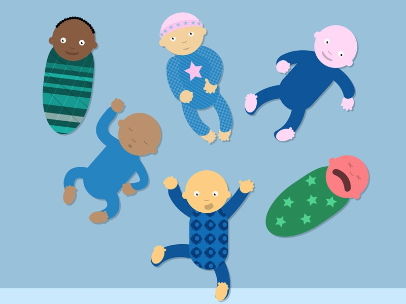 Presentation Deck Slide: Babies demographics flat vector slide presentation babies sketchapp illustration